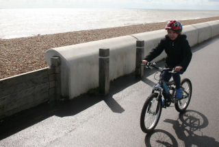 Child bike by Deal beach